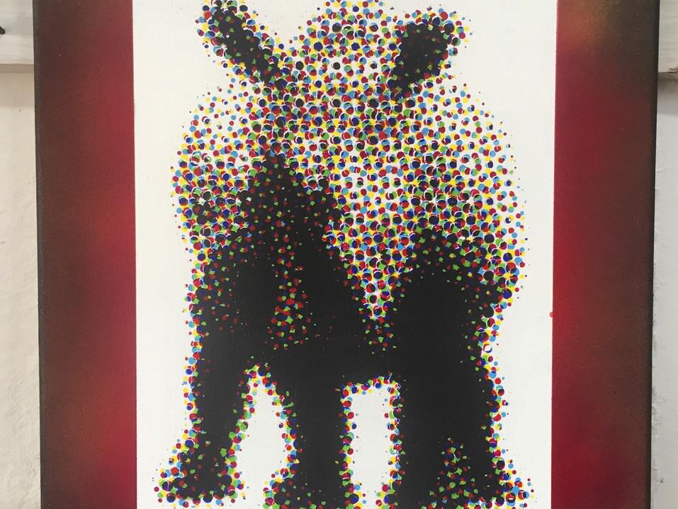 Halftone Rhino print