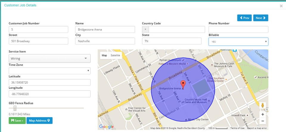 GeoFence Map example