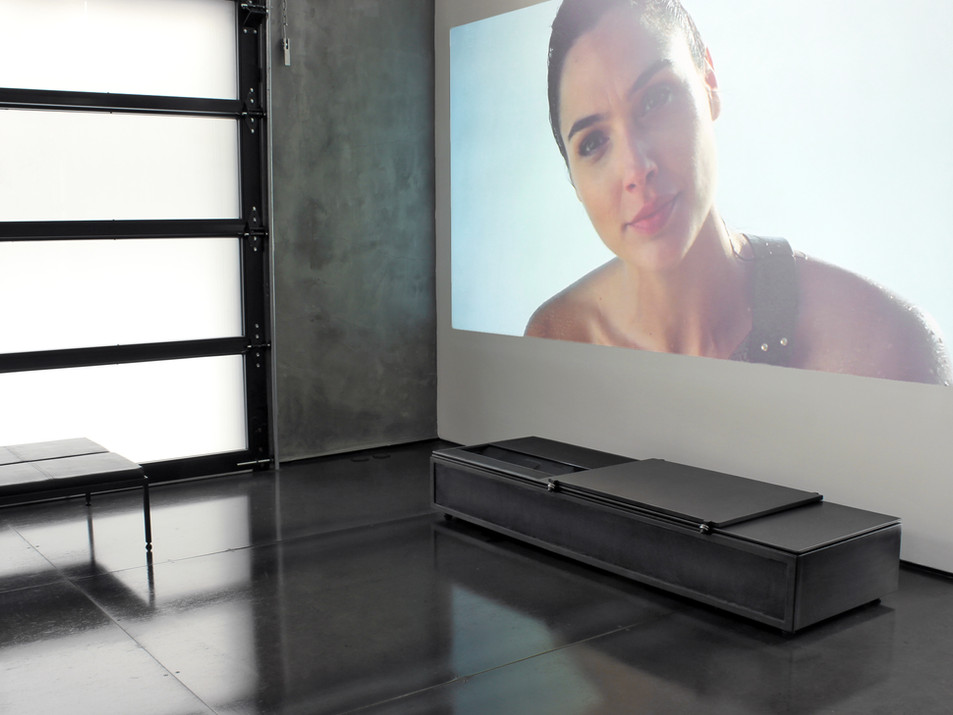 ultra short throw modern media console