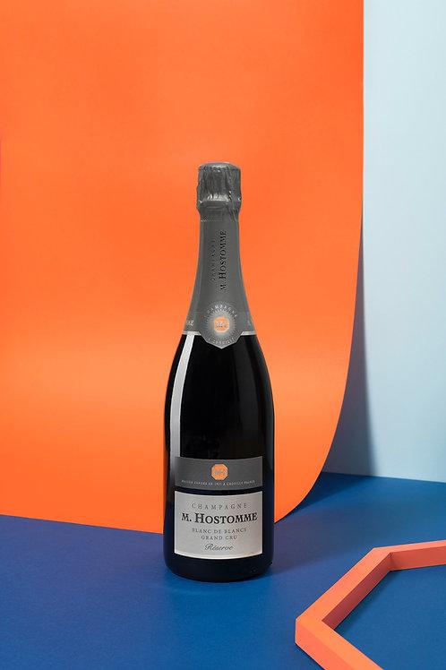 """Champagne Hostomme """"Réserve"""" Gd Cru Blc/Blc 75cl (Soit 42,2€ttc la ble/par 6)"""