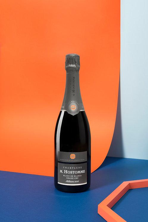 6 x Champagne Hostomme Grand Cru Blanc de Blancs Millésimé 2007 75cl (60€ttc)