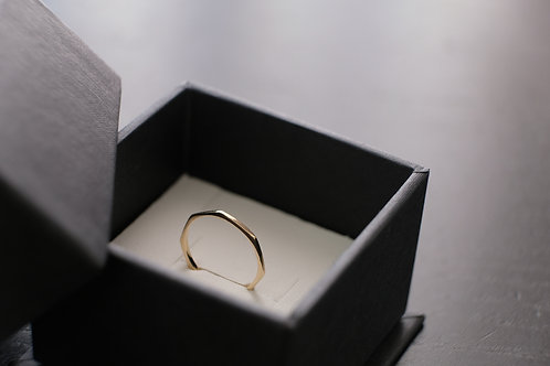 Gravel dainty ring - Gold