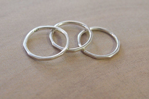 Gravel dainty rings