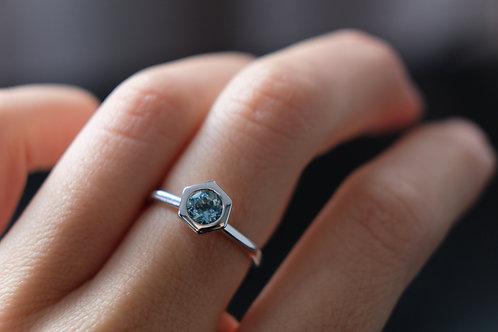 Gravel Aquamarine Ring - White Gold