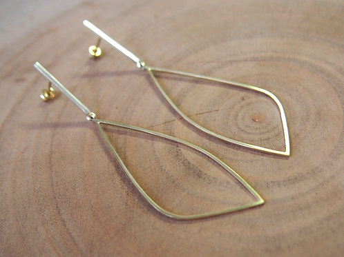 Agape Dainty Earrings - 9K Gold