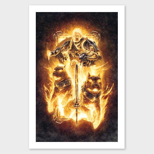 God Of Battle - Print