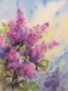 Véronique_-Albert-Aquarelle-Lilas-MODENE