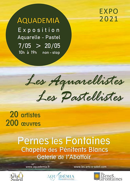 Affiche Salon Aquarelle Pastel 2021Perne