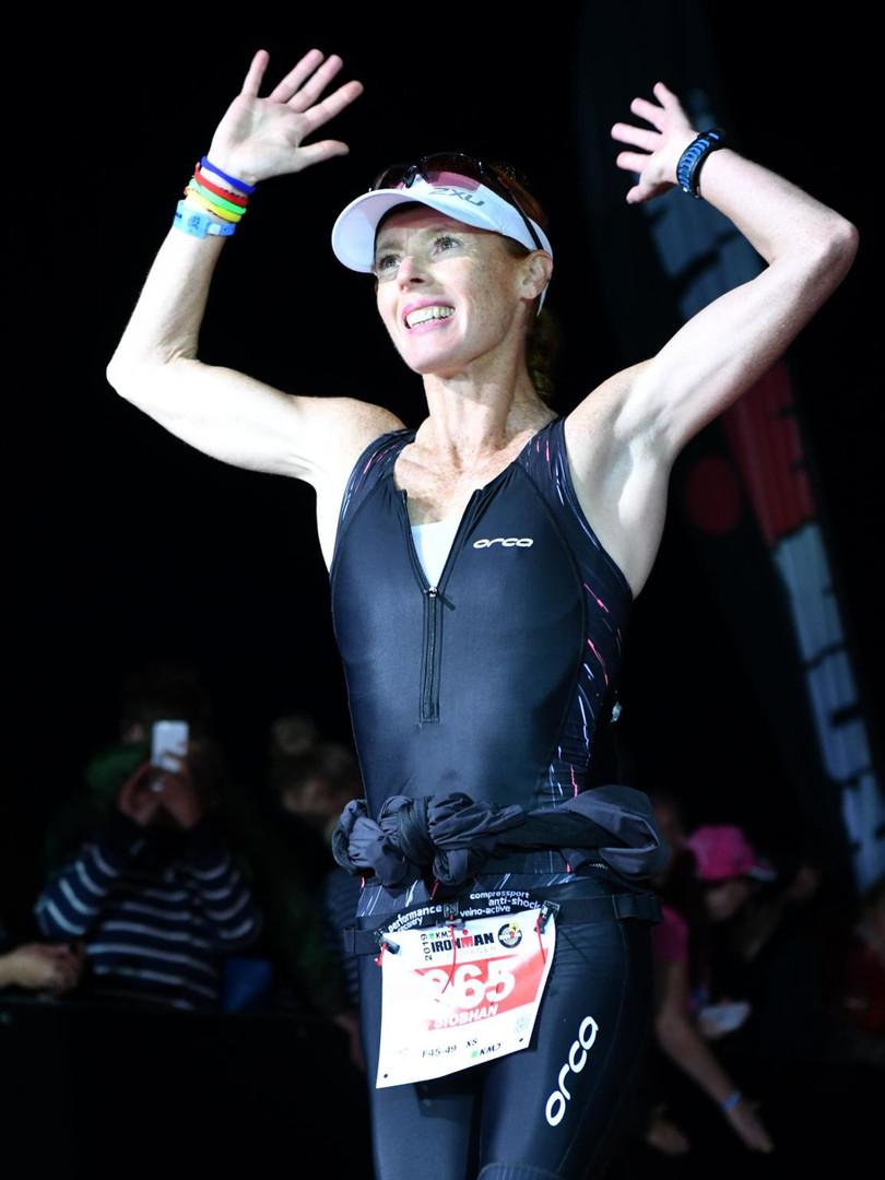 Finishing a Triathlon