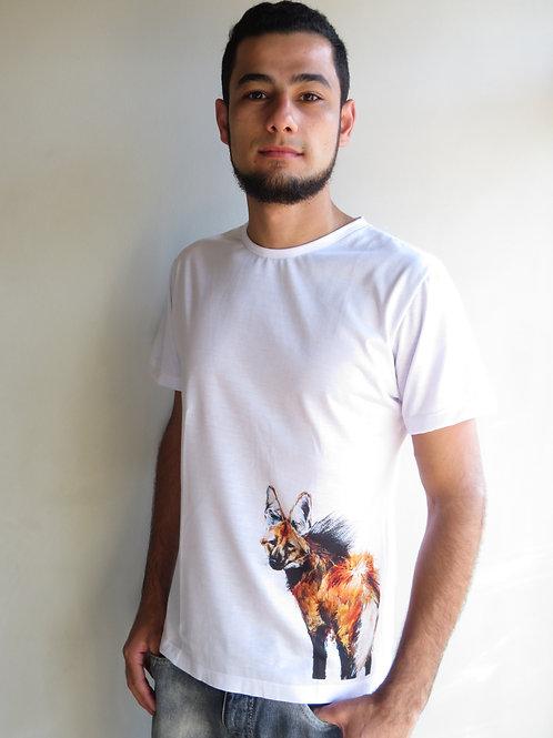 camiseta lobo-guará masculina