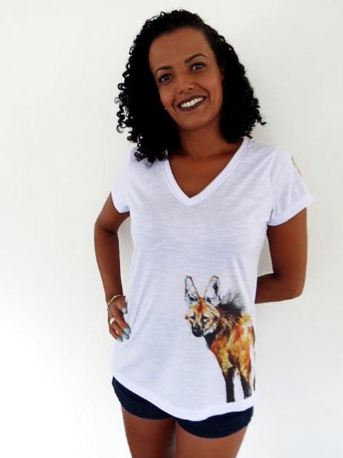 camiseta lobo-guará feminina