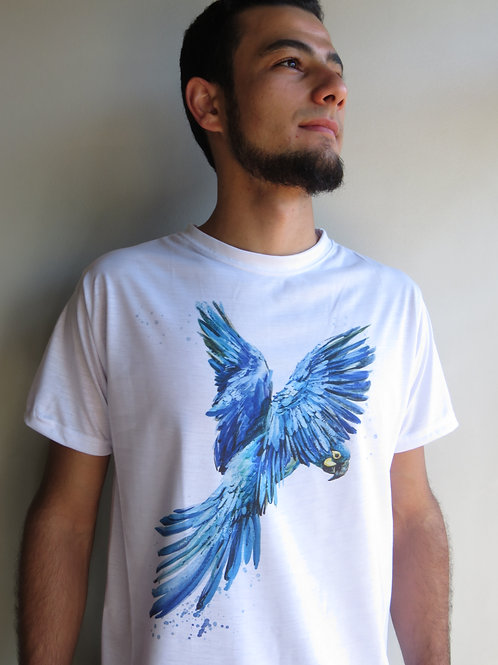 camiseta arara-azul-de-lear masculina