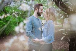 redbud isle engagement shoot
