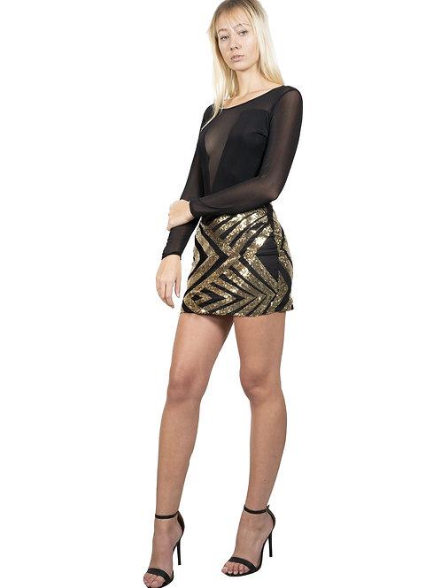Sutton Sequin Skirt Mini Dress