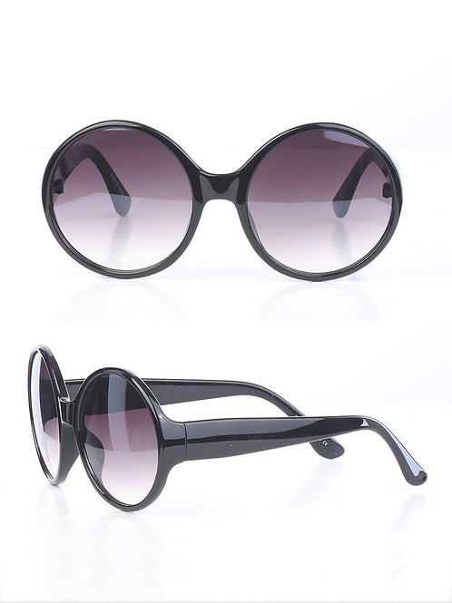 Black All Rounded Rimless Sunglasses