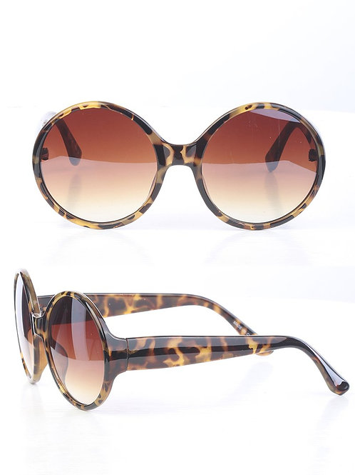 Tortoise All Rounded Rimless Sunglasses