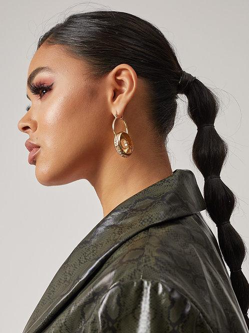 Ring Around the Rhinestones Earrings