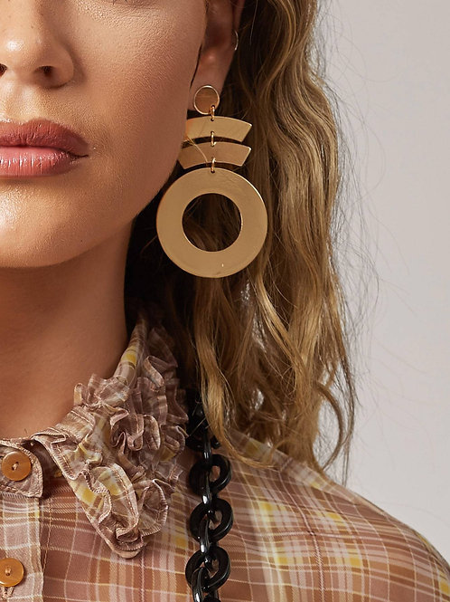 Rounded & Grounded in Style Earrings