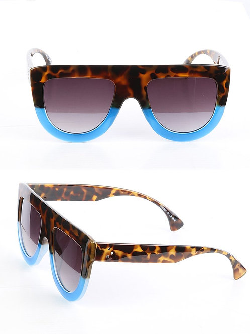The Fashionista's Tortoise Flat Top Sunglasses