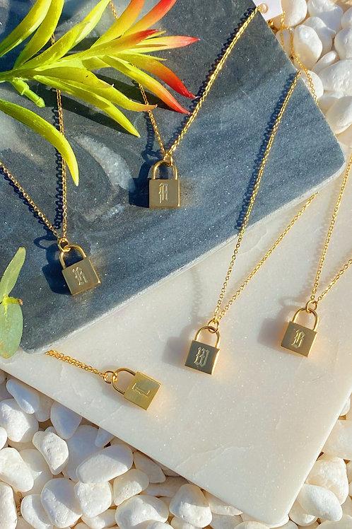 Locked in Love Monogram Necklace
