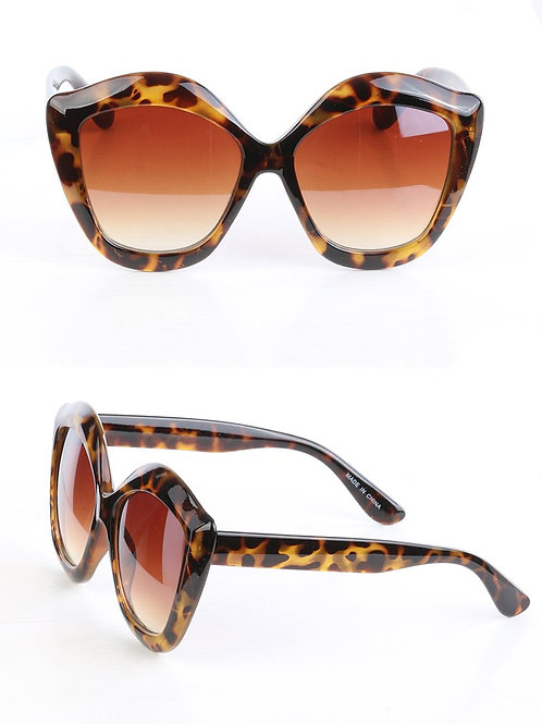 Tortoise Oversized Beach-Life Sunglasses