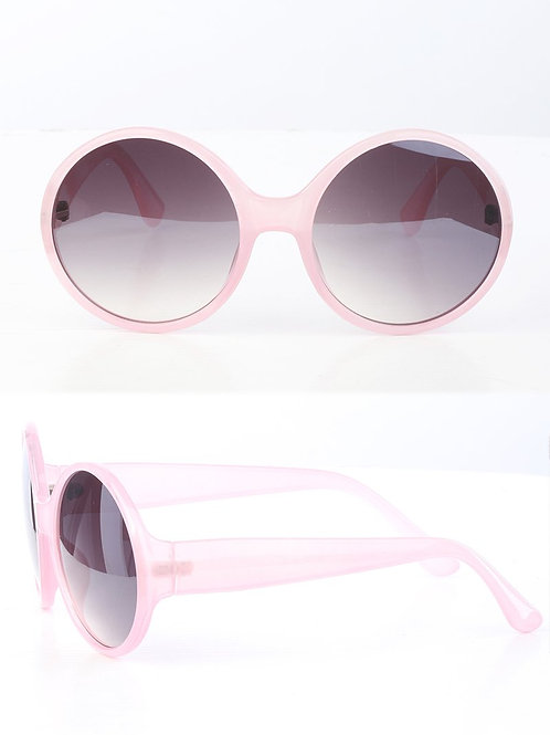 Pink All Rounded Rimless Sunglasses