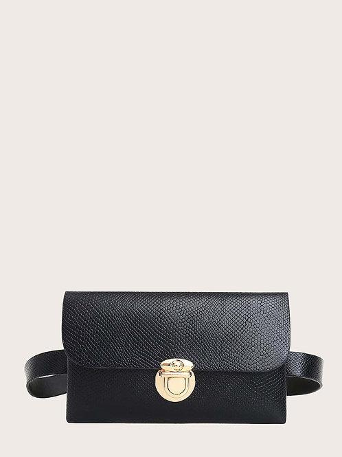 Simple & Chic Embossed Waist Belt Bag