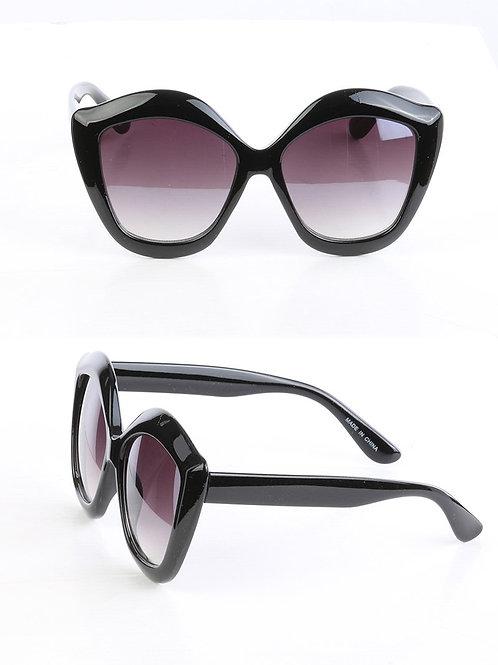 Black Oversized Beach-Life Sunglasses
