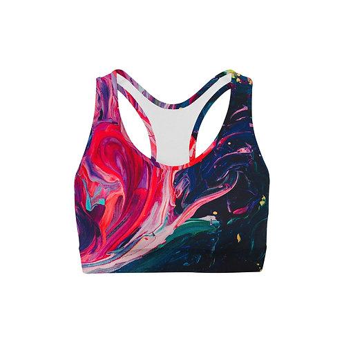 Paint Stroke Sports Bra