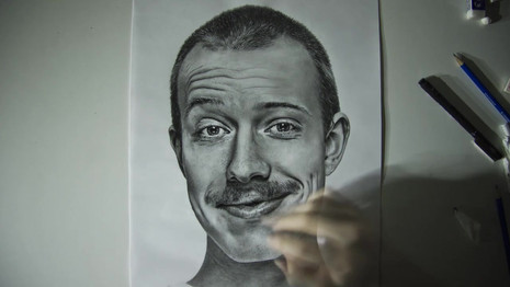 This is a time-lapse of my self portrait, which took about 36 hours to complete.