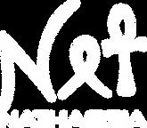 Nathassia - white logo - merch print (WH