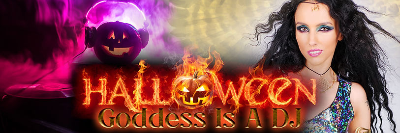 Goddess Is A DJ Halloween Special Banner
