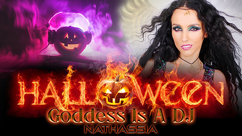 Goddess Is A DJ - Halloween Flyer (Offic