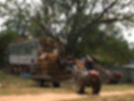 Production tabac au Laos-Chargement de tabac