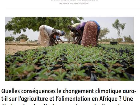 L'agriculture africaine face au changement climatique