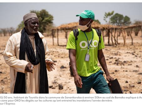 """REPORTAGE. """"Tout se fait avec mon téléphone"""" : au Mali, les paysans s'assurent par satellite"""