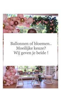 Balonnen en bloemen
