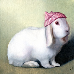 White Rabbit with Red Hat