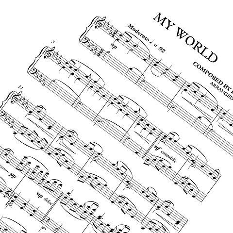 My World Sheet Music Download