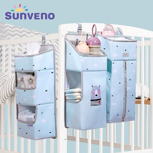 Sunveno Crib Organizer for Baby Crib Hanging Storage Bag