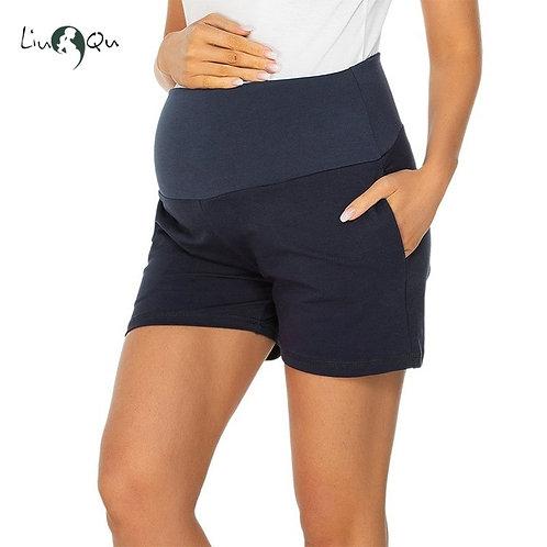 Maternity Summer Shorts High Waist Pants