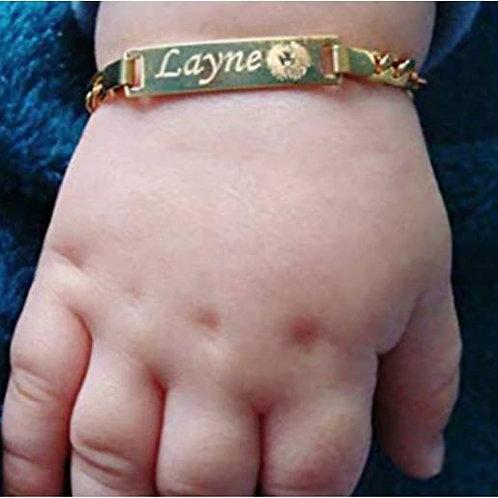 Personalized Baby Name Bar Bracelet (JW01017)
