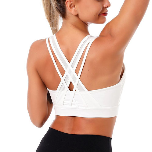Power Series Yoga Bra Cross Mesh Strap