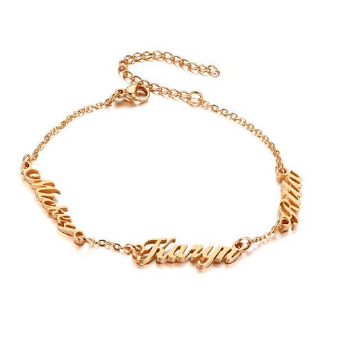 Personalised Family Name Bracelet (JW01026)