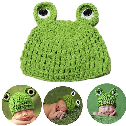 Baby Cute Frog Clothing Set Newborn Baby Crochet Knit Hat Photography Props