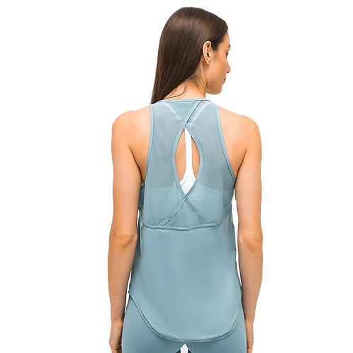 Fitness Yoga Wear Back Hollow Stitching Mesh Quick Dry Sports Vest