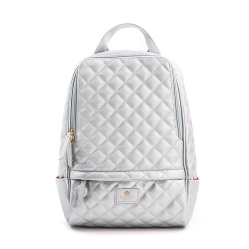 Cougar - Silver Vegan Quilted Backpack