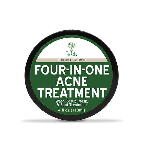 TreeActiv Four-in-One Acne Treatment | Bentonite Clay Cystic Acne Spot Treatment