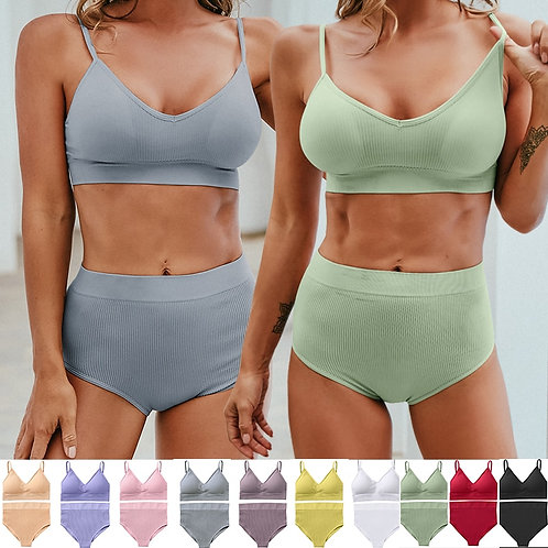 Women Seamless Lingerie Set 10 Colors