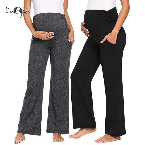 Women Maternity Wide/Straight Versatile Pregnancy Trousers